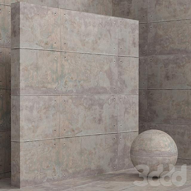 Материал (бесшовный) - штукатурка, ржавчина, бетон - set 134