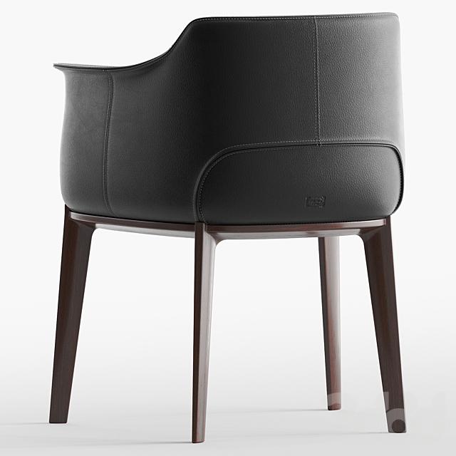 Poltrona Frau, Archibald, Leather easy chair