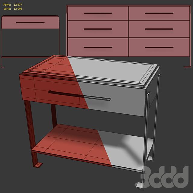 Комод и тумба прикроватная Melody. Sideboard, nightstand by Carson