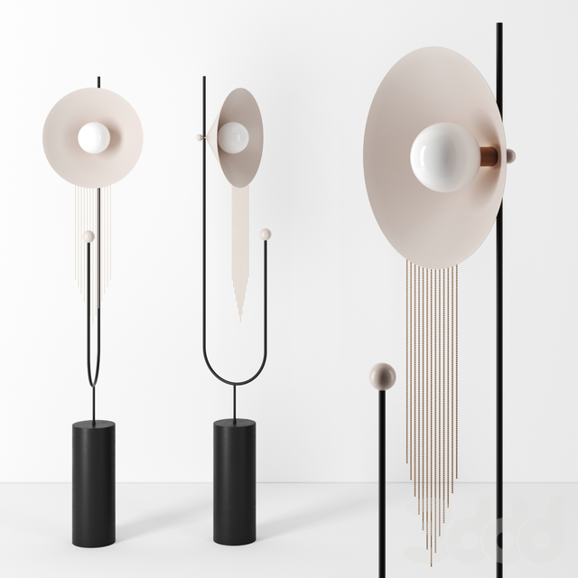 Floor Lamp With Hair by Adir Yakobi