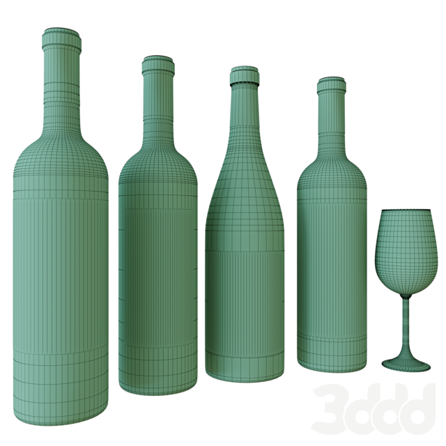 wine bottle set 6
