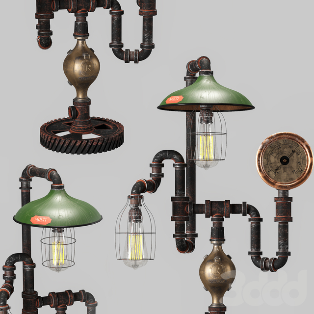 Antique Steam Gauge Lamp by Machineagelamps