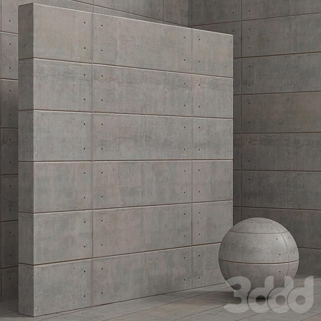 Материал (бесшовный) - штукатурка, бетон, панель - set 135