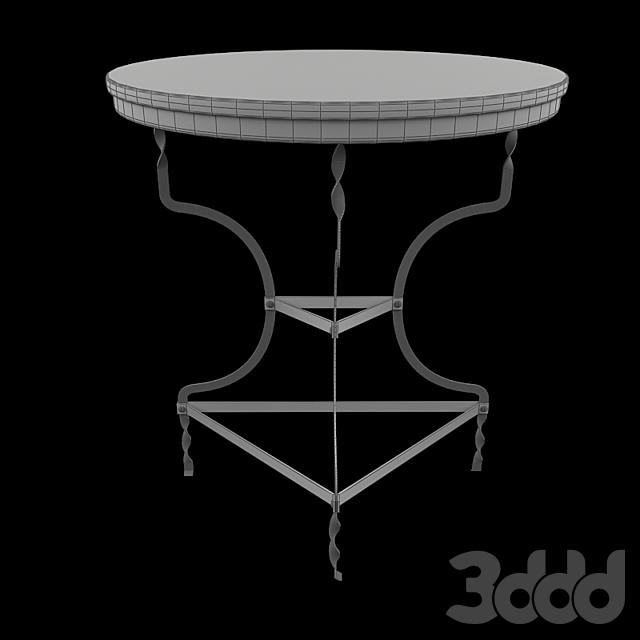 Черный Металлический Стол Adelaide