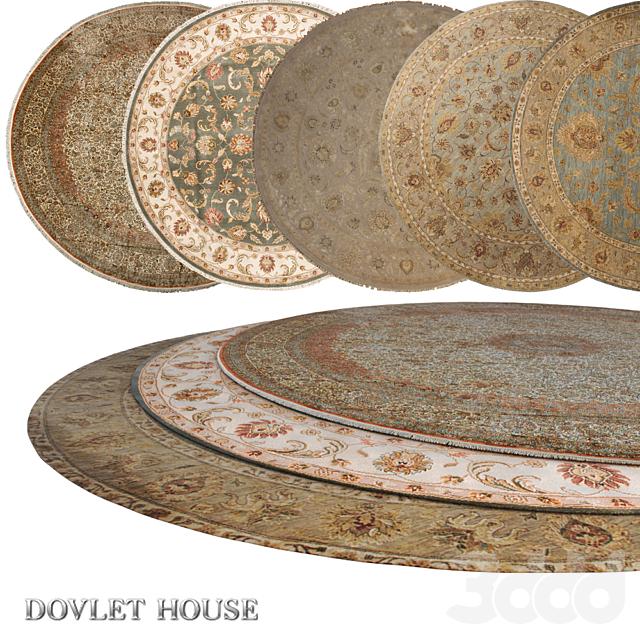 Ковры круглые DOVLET HOUSE 5 штук (part 13)