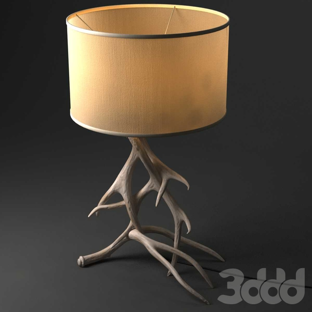Restoration Hardware Natural Antler Table Lamp Deer