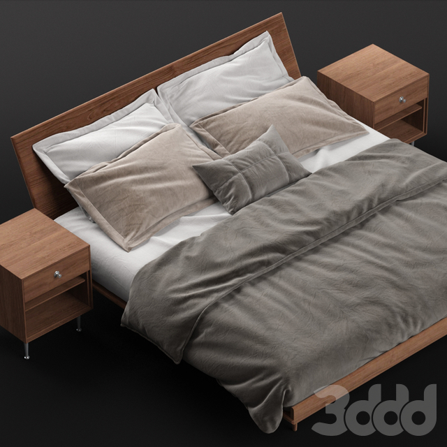 Nelson Thin Edge King Bed with Bedside Table