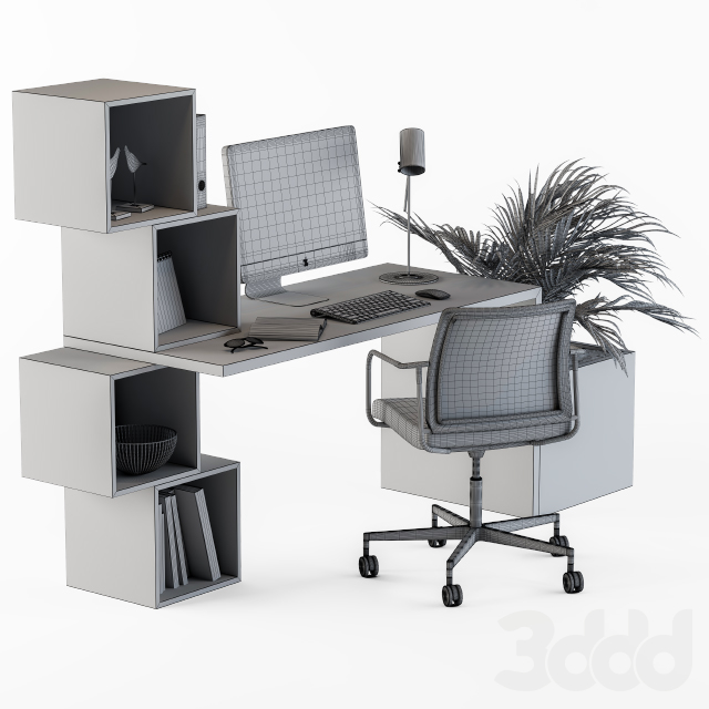 Home Office White Set
