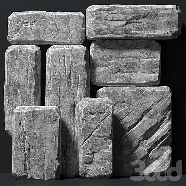 Slab stone rock big n1 / Слэб каменный скальный большой