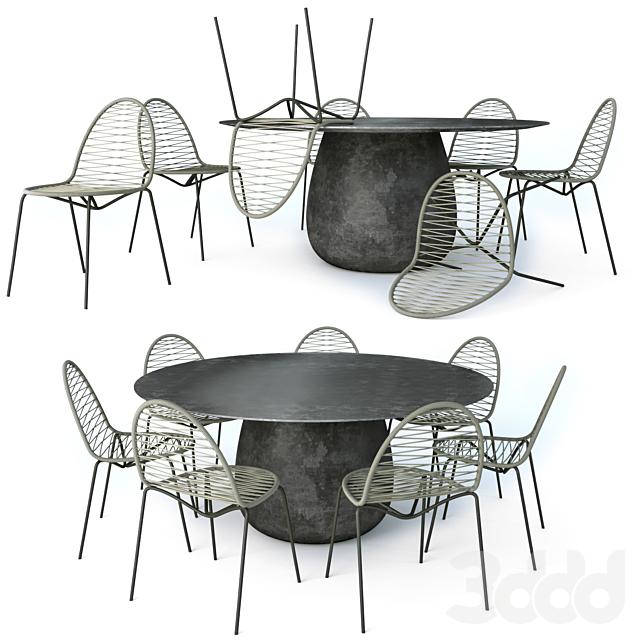 Daaitalia Incontro Table and Sen-to Chair