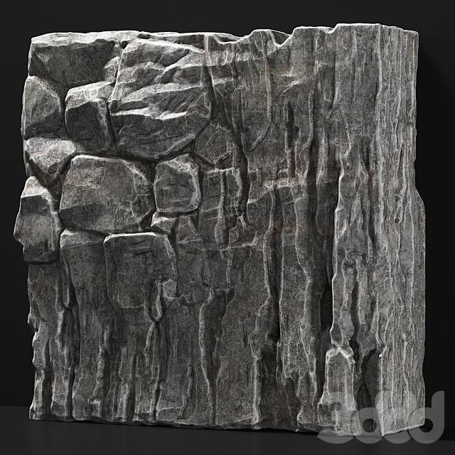Slab stone rock granite huge n2 / Слэб из скального камня огромный