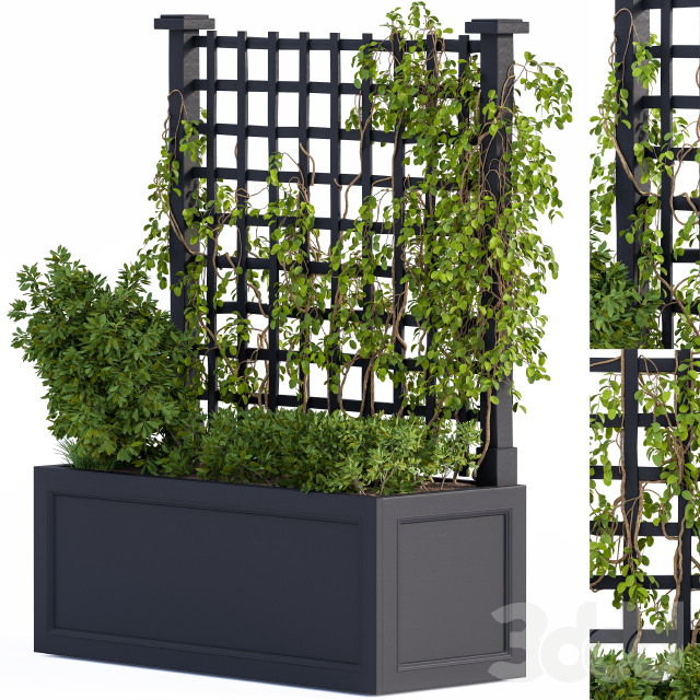 Outdoor Plant Box Black