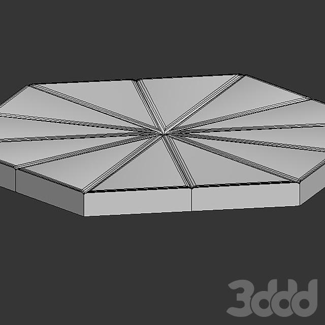 Настенная 3D плитка ASHOME #7