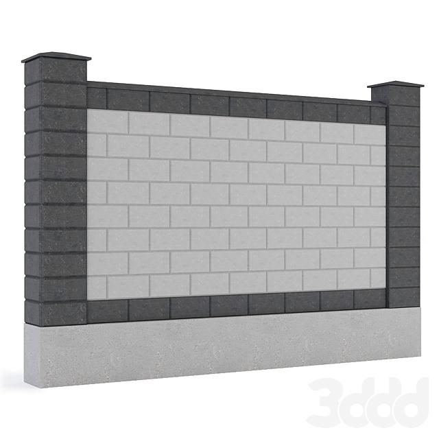 Забор из пескоблока