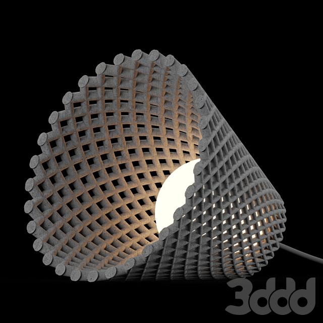 Concrete Helia Pendant Lamp by Dror Kaspi
