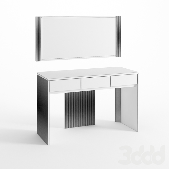 Стол для макияжа  и зеркало Briotti/ цвет Белла