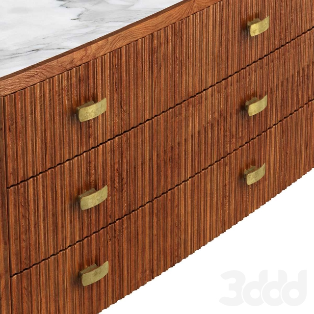 Cosmo Sideboard - Bespoke - Mahogany with Antique Brass Handles and Feet