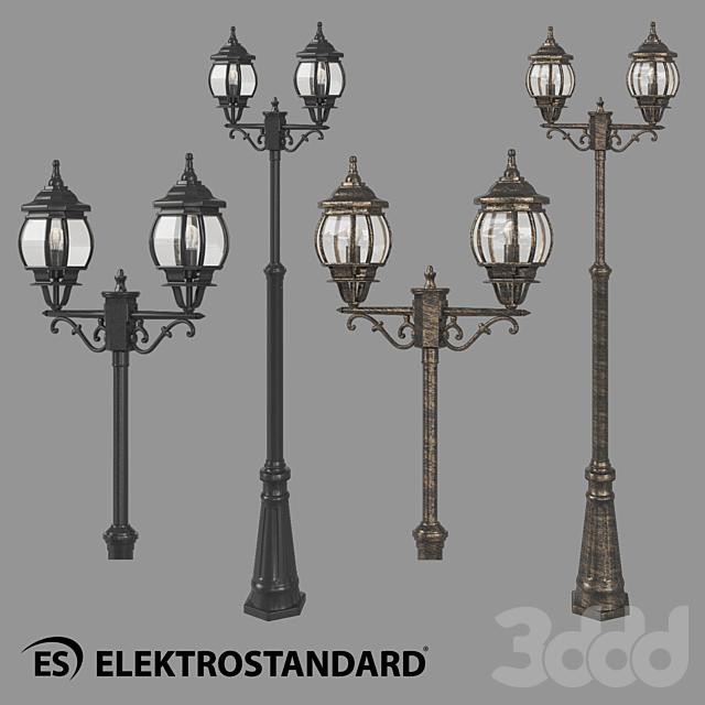 ОМ Уличный двухрожковый светильник на столбе Elektrostandard NLG99HL004