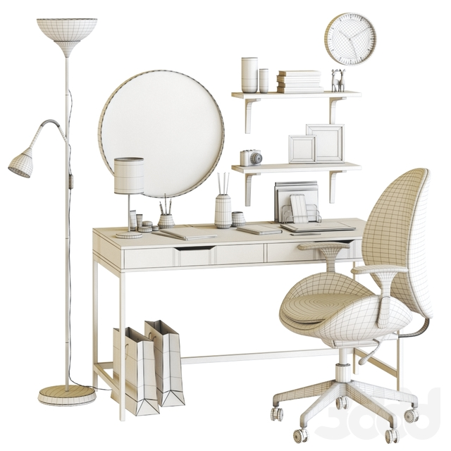 Women's dressing table and workplace