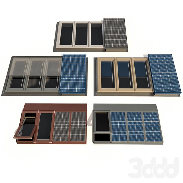 Мансардные окна с солнечными батареями