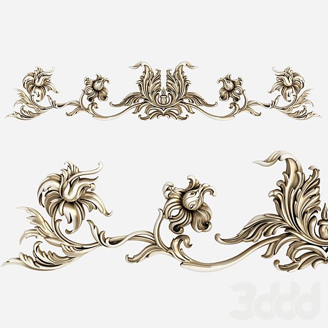 Картуш. Декоративный элемент лепнины