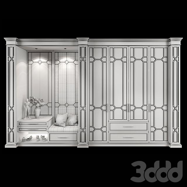 Wardrobe hallway composition set 03