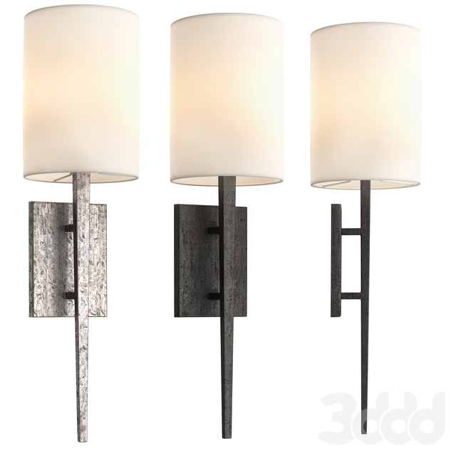 RESTORATION HARDWARE WRIGHT SCONCE 2 IN 1