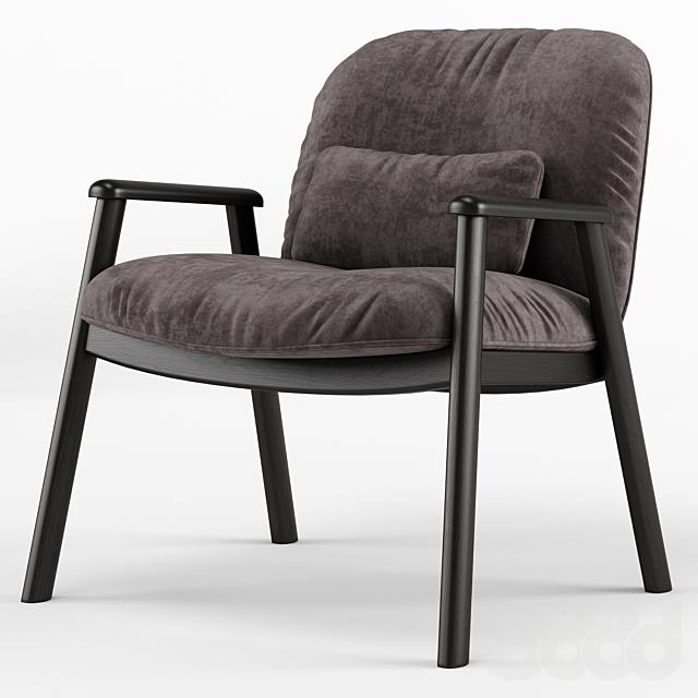 Baltimora velvet armchair - Calligaris