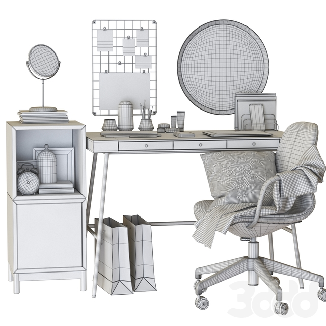lillasen dressing table and workplace