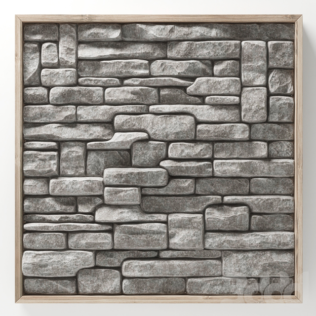 Stone rock panel frame n2 / Каменная скальная панель в раме