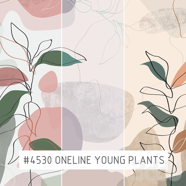 Creativille | Wallpapers |  4530 Oneline Young Plants