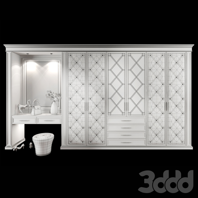 Wardrobe hallway composition set 04