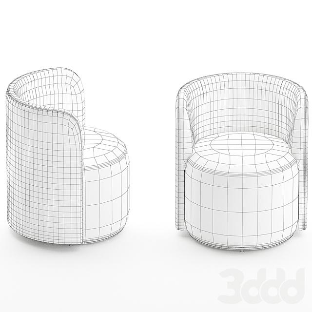 Ditre Italia CHLOÈ LUXURY Upholstered fabric easy chair