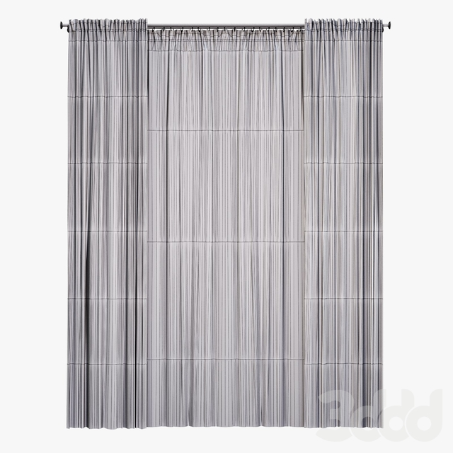 Straight curtain