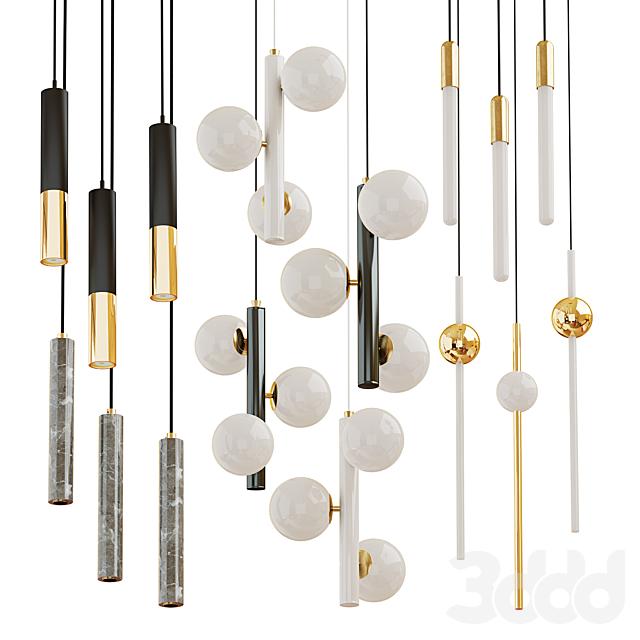 Collection of chandeliers Matthew; Delightfull; Lampatron; Lee Broom