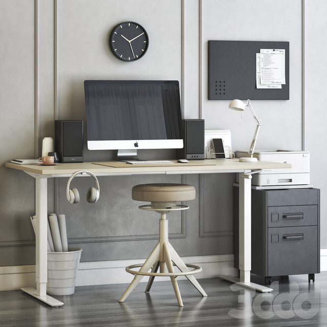 Ikea SKARSTA home and office workplace