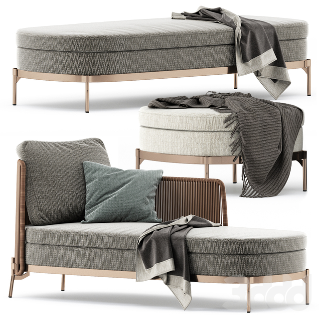 TAPE CORD PAOLINA and BENCH and OTTOMAN by Minotti