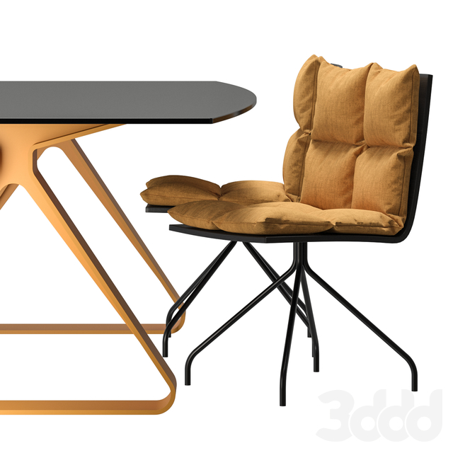 Ara B1 Chair and Stay Table by Dressy