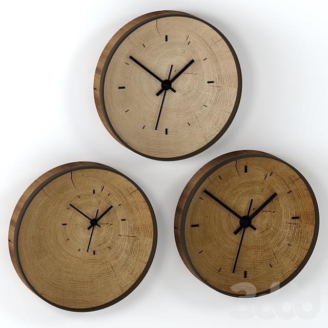 Часы настенные из слэба.