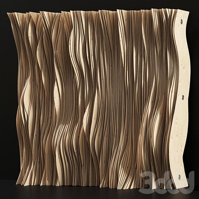 Parametric Plywood panel decor / Параметрический декор из фанеры