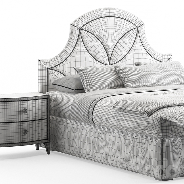 Calista Upholstered Bed by Bernhardt
