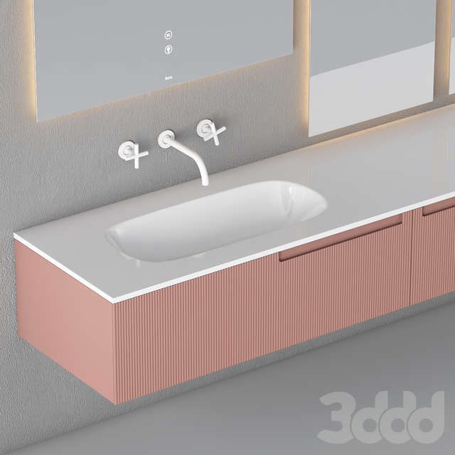 Modern Bathroom Cabinet   No. 073- Fiora Snergy Serie
