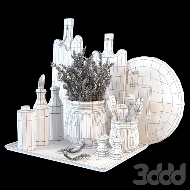 Декоративный набор для кухни с розмарином