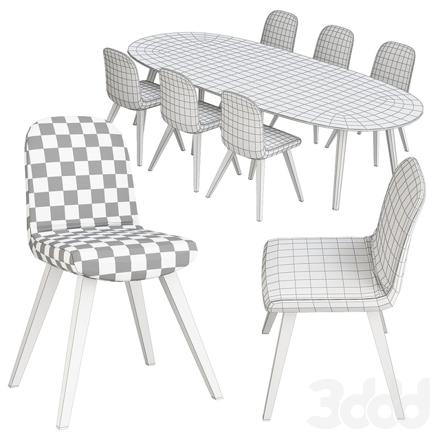 Poliform table and chair