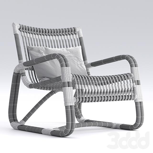Cane-Line Curve lounge  armchair Natural