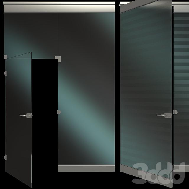 Стеклянная Перегородка с дверью