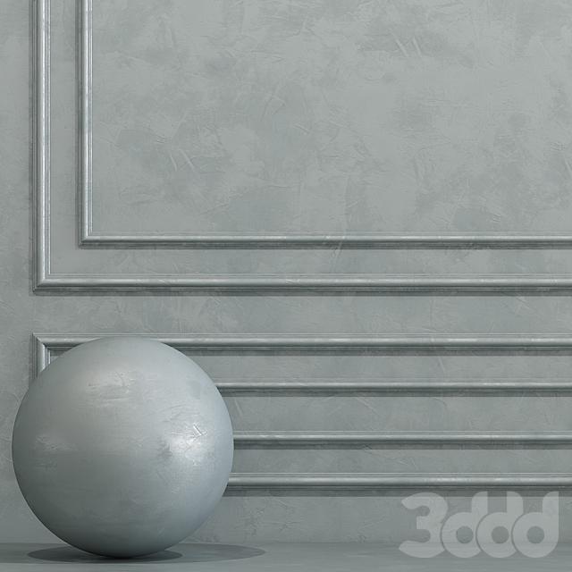Декоративная штукатурка с молдингом 7