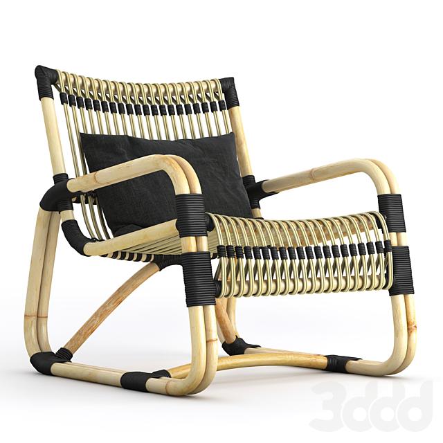 Choose chair Rattan, Black ,Black bindings