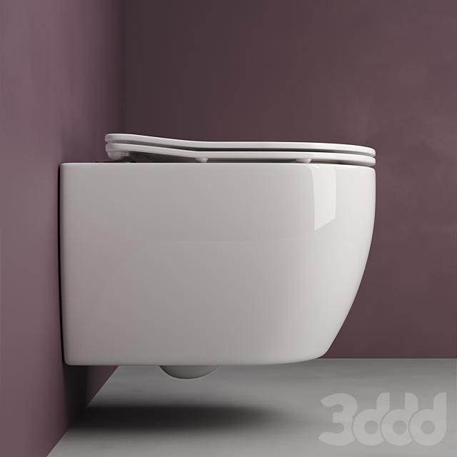 Подвесной унитаз Ceramica Nova _ Play CN3001