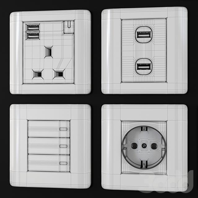 Schneider zencelo switches & sockets Silver satin
